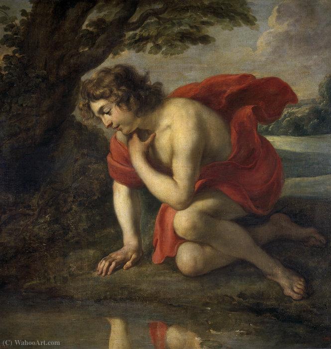 Narcisse de Jan Cossiers (1600-1671, Belgium) | Copie Tableau | WahooArt.com