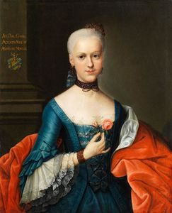 Johann Heinrich The Elder Tischbein - portrait dun de jeunes  noble  demoiselle noble
