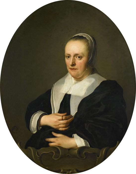 Portrait de Sara de Bie de Johannes The Younger Lutma (1624-1689, Netherlands) | Reproductions D'art Johannes The Younger Lutma | WahooArt.com