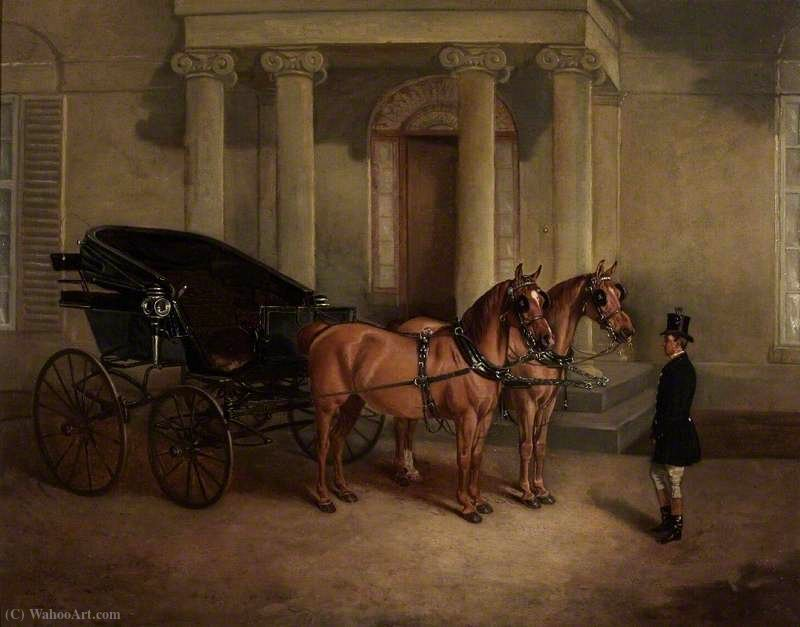 Rode Manor, transport et Paire au Porche de John Alfred Wheeler (1821-1903, United Kingdom)
