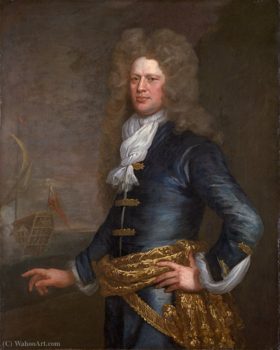 Portrait de Sir John Balchen de Jonathan Richardson (1667-1745, United Kingdom) | Copie Tableau | WahooArt.com