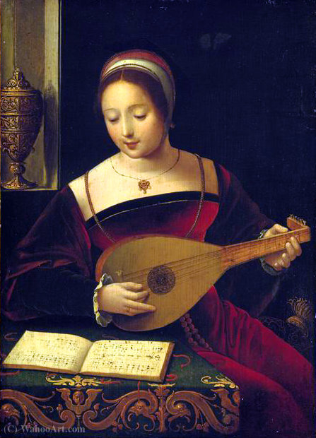 La luthiste de Master Of Female Half Lengths