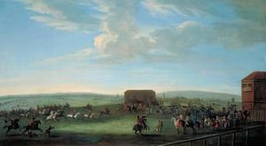 Peter Tillemans - Vue de Newmarket Heath