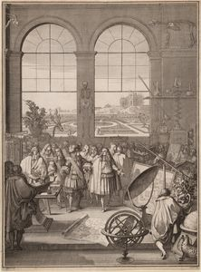 Sébastien I Le Clerc - Louis XIV Visite de la Royal Academy of Sciences