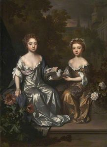 Willem Wissing - Portrait d Henrietta et Mary Hyde