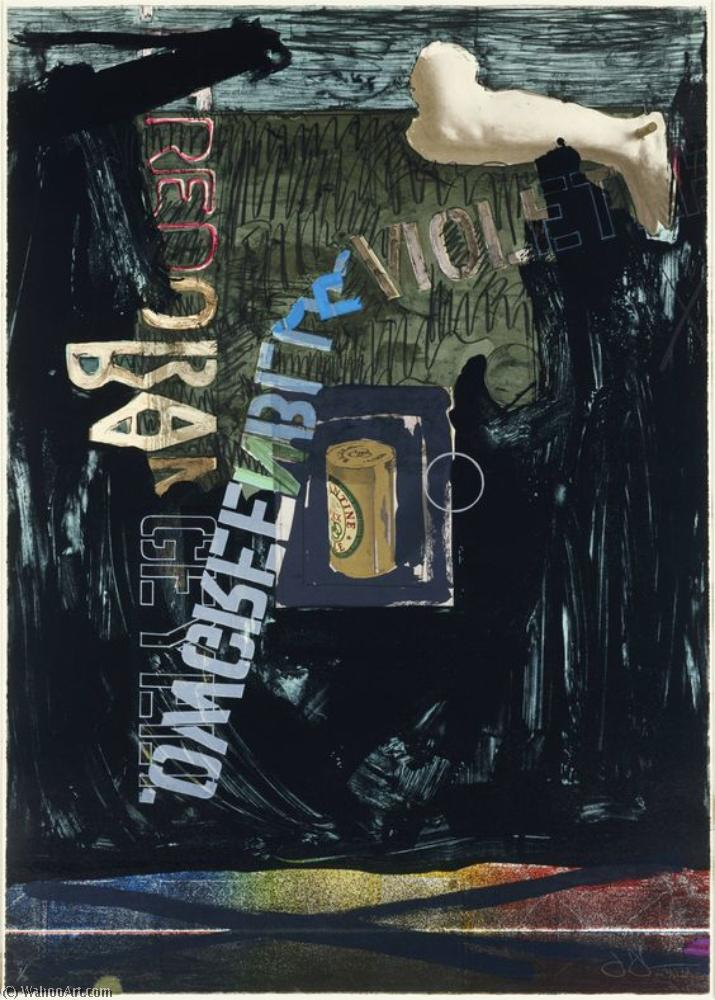 Attirer ii de Jasper Johns | Reproductions D'art Sur Toile | WahooArt.com