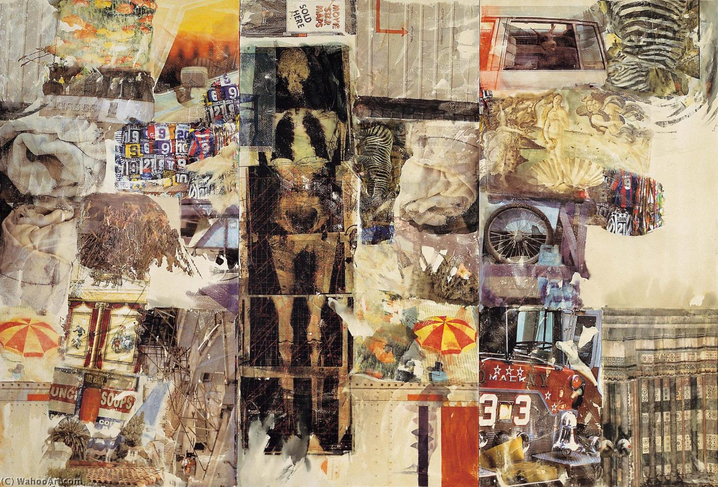 Mirthday homme de Robert Rauschenberg (1925-2008, United States) | Reproductions D'art Sur Toile | WahooArt.com