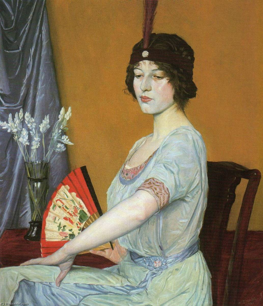 Le Fan japonaise, 1910 de William Strang (1859-1921)