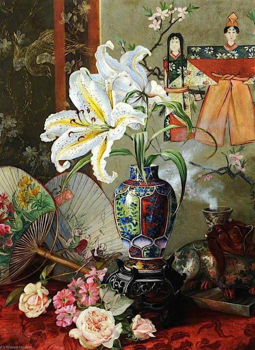 Japon de Marianne North (1830-1890, United Kingdom) | Reproductions D'œuvres D'art Marianne North | WahooArt.com