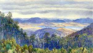Marianne North - Lac Biwa , Japon