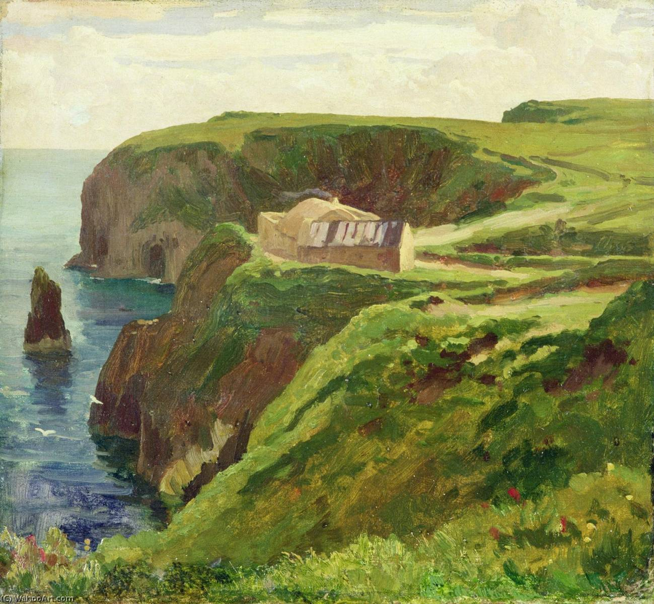 Achat Reproductions De Peintures | Malin Tête , Donegal, 1874 de Lord Frederic Leighton (1830-1896, United Kingdom) | WahooArt.com