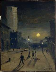 Louis Michel Eilshemius - New York au  nuit