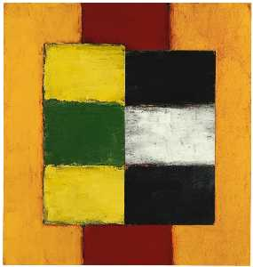 Sean Scully - Vert jaune chiffre