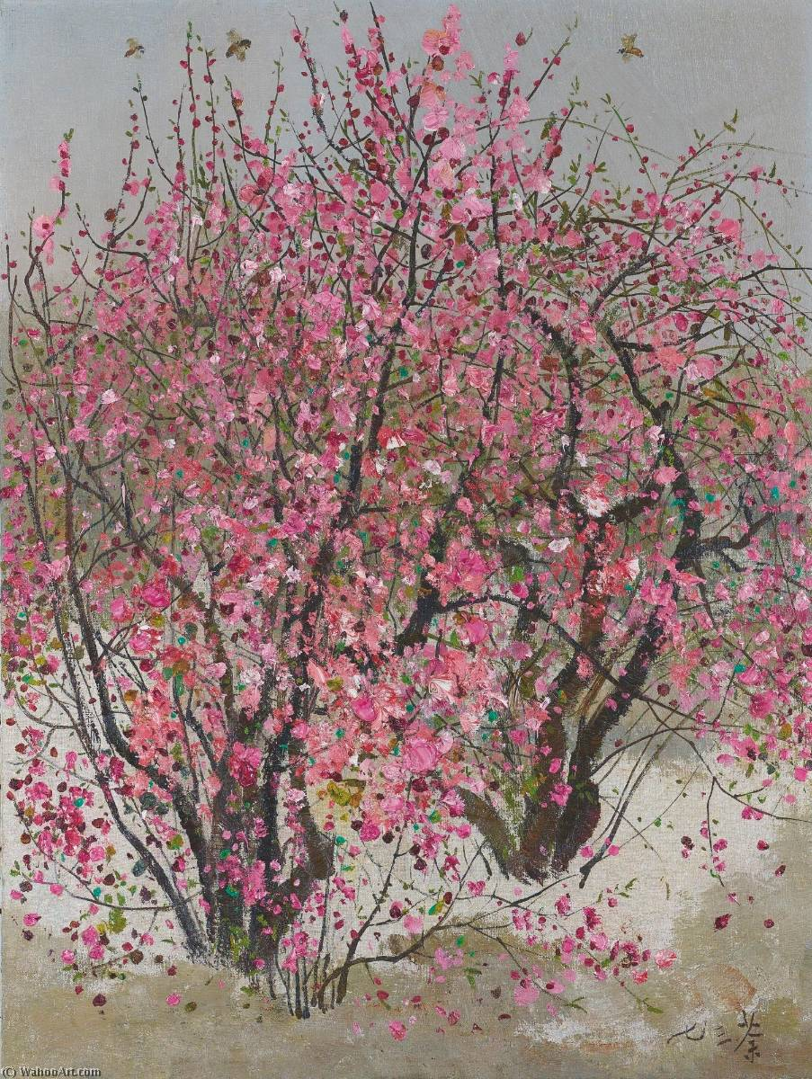 Agenda : Ca s'est passé en juin ! Wu-Guanzhong-Peach-Blossoms