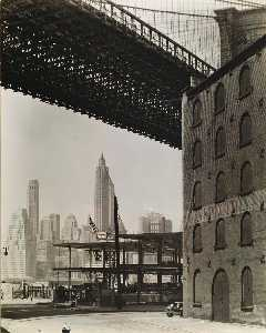 Berenice Abbott - le pont de brooklyn , L'eau et Dock Rues , Brooklyn