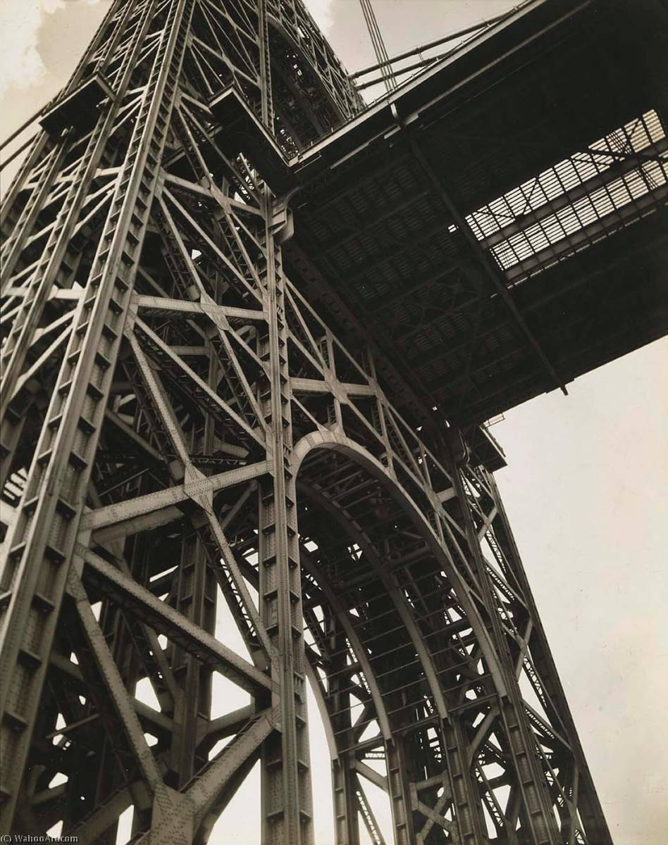 George washington pont , Bord de l'eau Conduire et 179th Rue , Manhattan, imprimé de Berenice Abbott (1898-1991, United States)