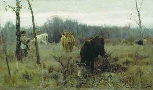 Alexei Stepanov - Vaches sur le pâturage