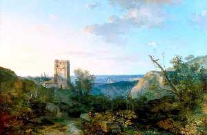 George Barret The Elder - Paysage italien