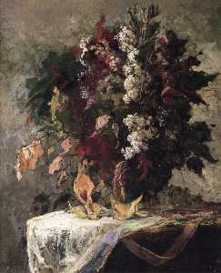 Edward Mitchell Bannister - nature morte florale