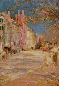 Edward Mitchell Bannister - Boston rue scène ( boston commune )