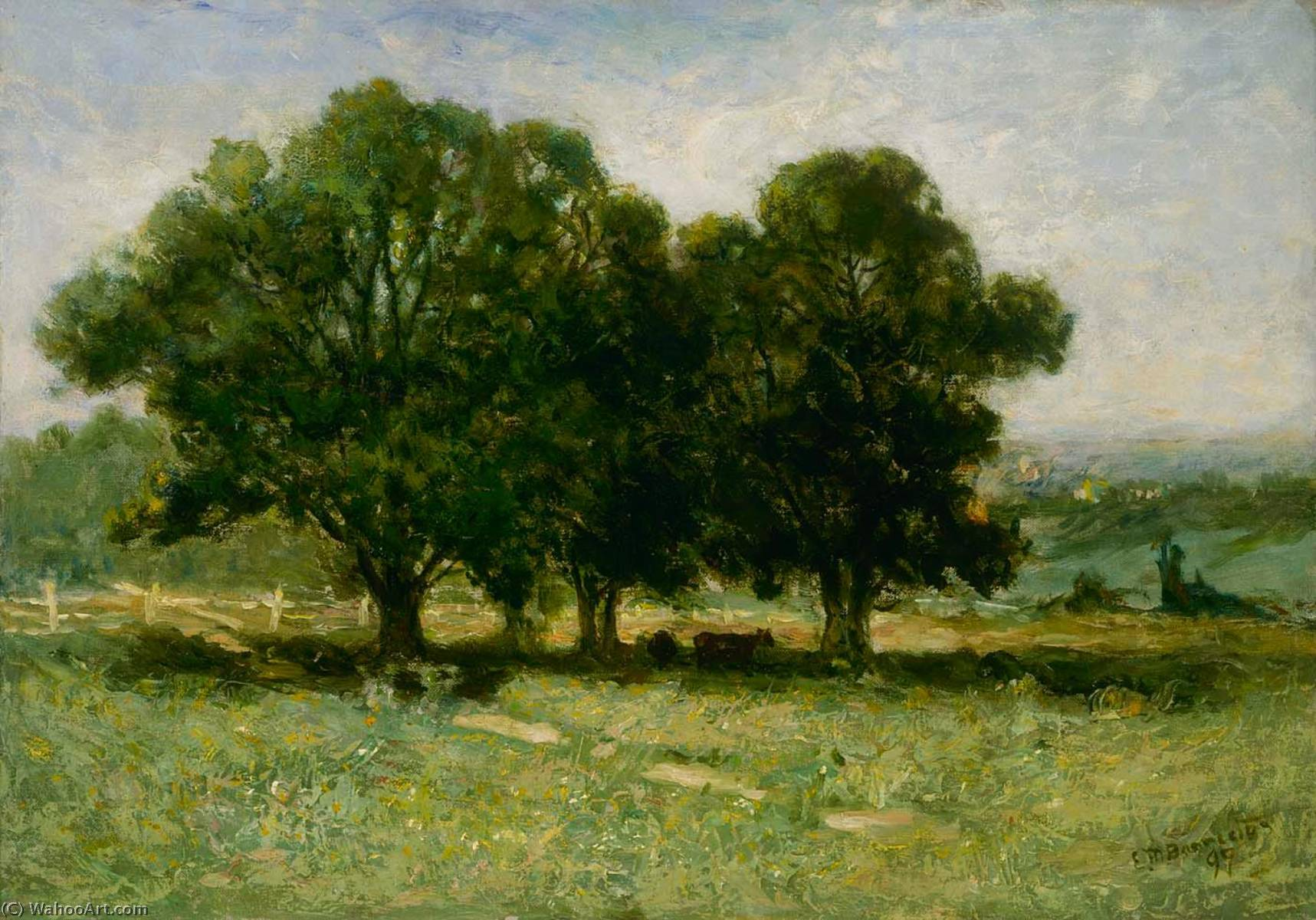 Achat Reproductions D'œuvres D'art | Paysage, 1895 de Edward Mitchell Bannister (1828-1901, Canada) | WahooArt.com