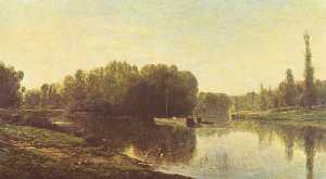 Charles François Daubigny - English Les bords de l'Oise deutsch ufer der oise