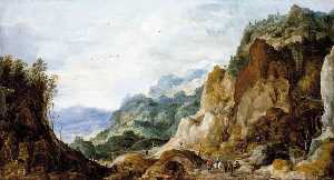 Joos De Momper The Younger - Paysage montagneux
