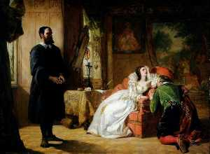William Powell Frith - john knox réprimandant marie  reine  de  Écossais