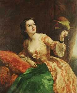 William Powell Frith - le vert perroquet