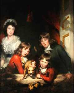 William Beechey - famille portrait