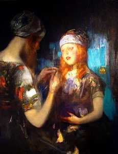 James Jebusa Shannon - Tricotage , Nora Quartier et kitty shannon