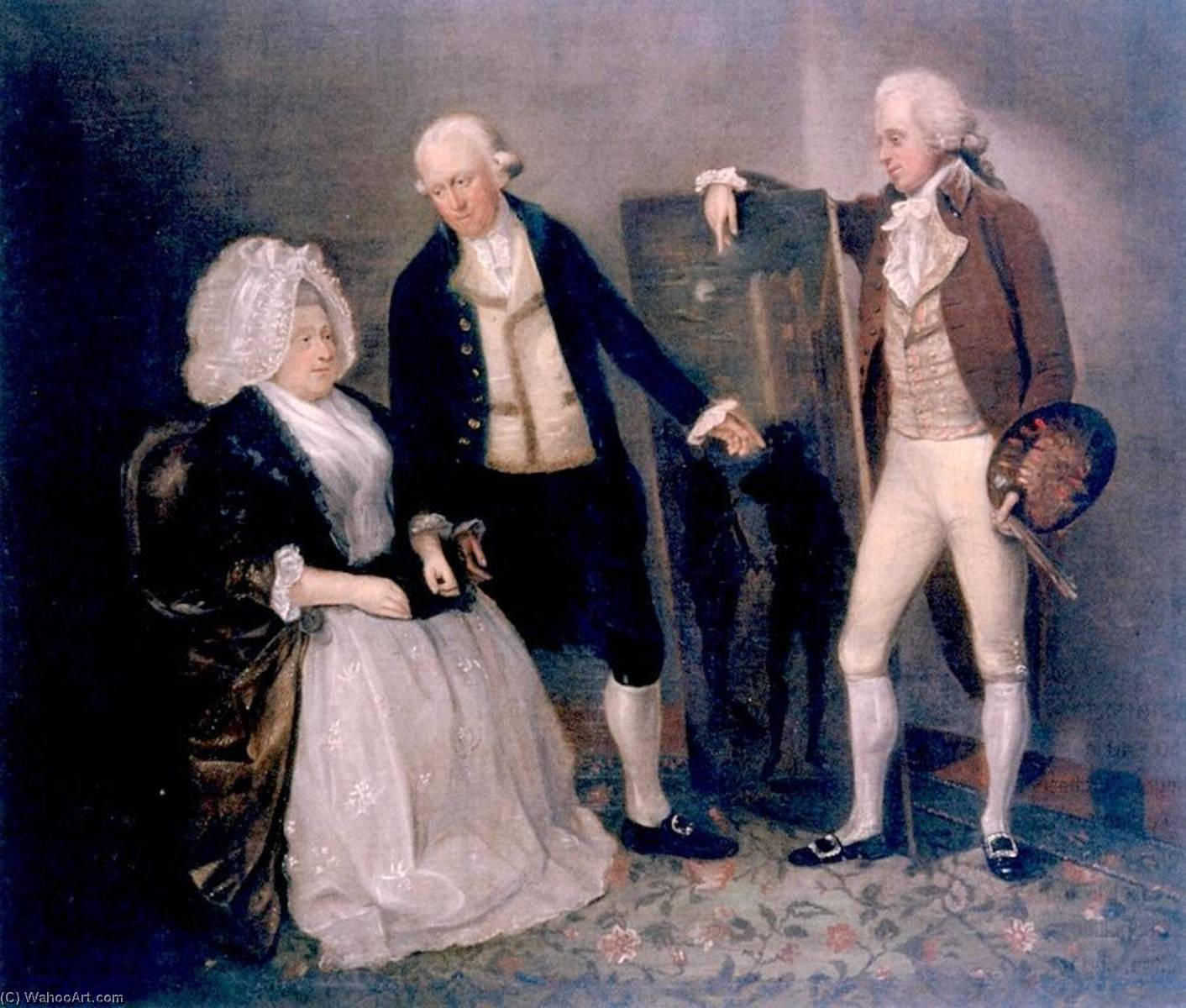 the dunlap Famille, 1788 de William Dunlap (1766-1839, United States) | Reproductions De Peintures William Dunlap | WahooArt.com