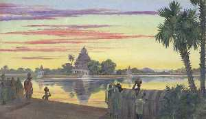 Marianne North - -The Réservoir , Madura , India-
