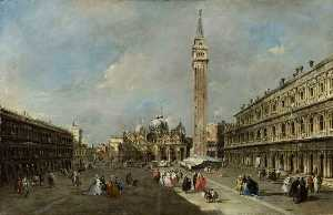 Francesco Lazzaro Guardi - la place san marco , Venise
