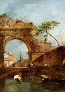 Francesco Lazzaro Guardi - Paysage – Capriccio