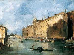 Francesco Lazzaro Guardi - Le 'Rio dei mendicanti'