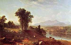 Asher Brown Durand - le New Hampshire paysage  peinture