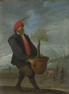 David The Younger Teniers - printanières