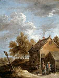 David The Younger Teniers - un chalet