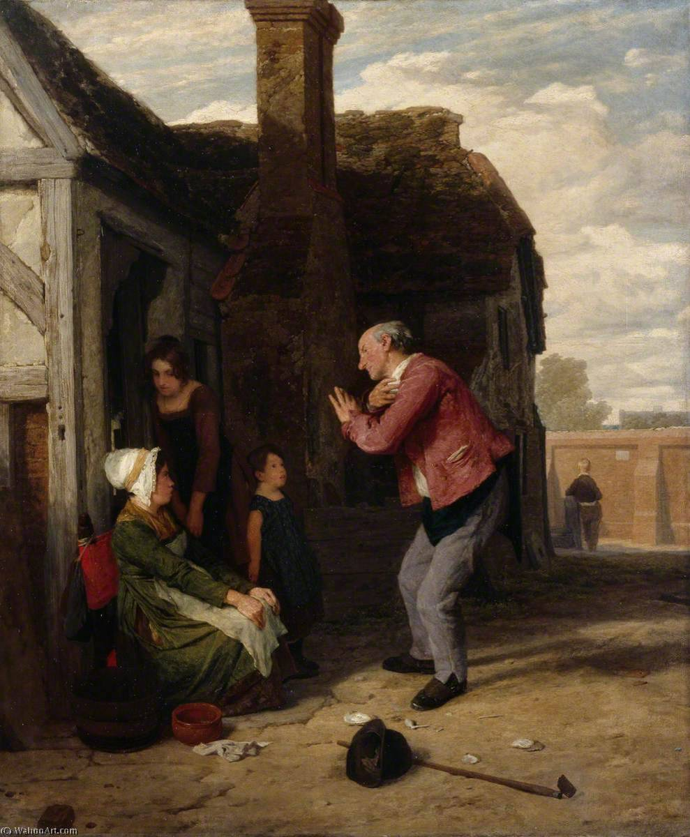 le Village arlequin , 1816 de William Mulready The Younger (1786-1863, Ireland) | WahooArt.com