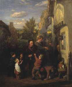 William Mulready The Younger - temps équitable ( 'Returning de l Bière House' )
