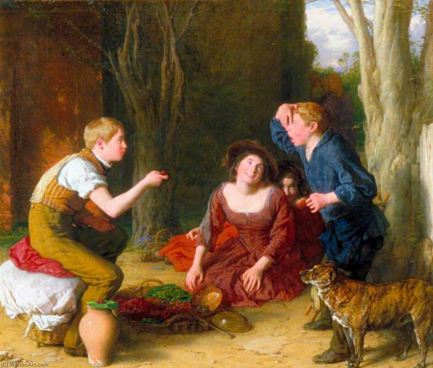 la Bout  tir  une  Cerise , 1822 de William Mulready The Younger (1786-1863, Ireland) | Reproductions De Qualité Musée | WahooArt.com