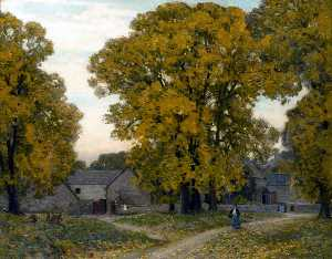 Alfred East - Automne en Gloucestershire
