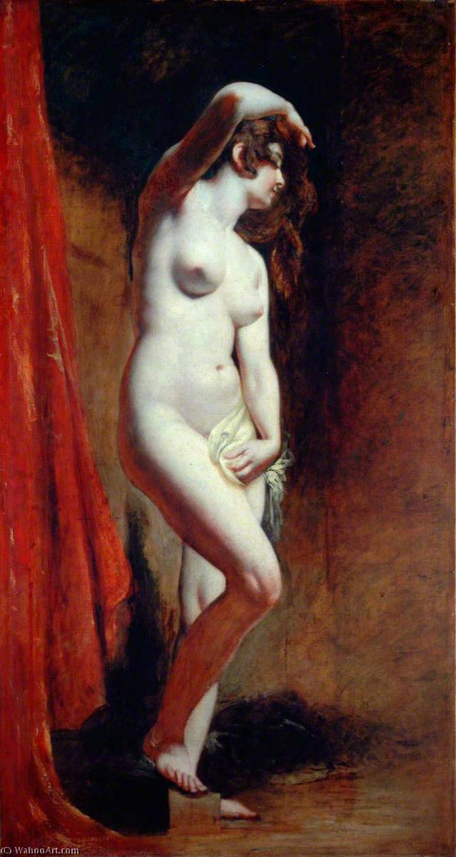 le baigneur, 1830 de William Etty (1787-1849, United Kingdom) | Reproductions De Qualité Musée William Etty | WahooArt.com