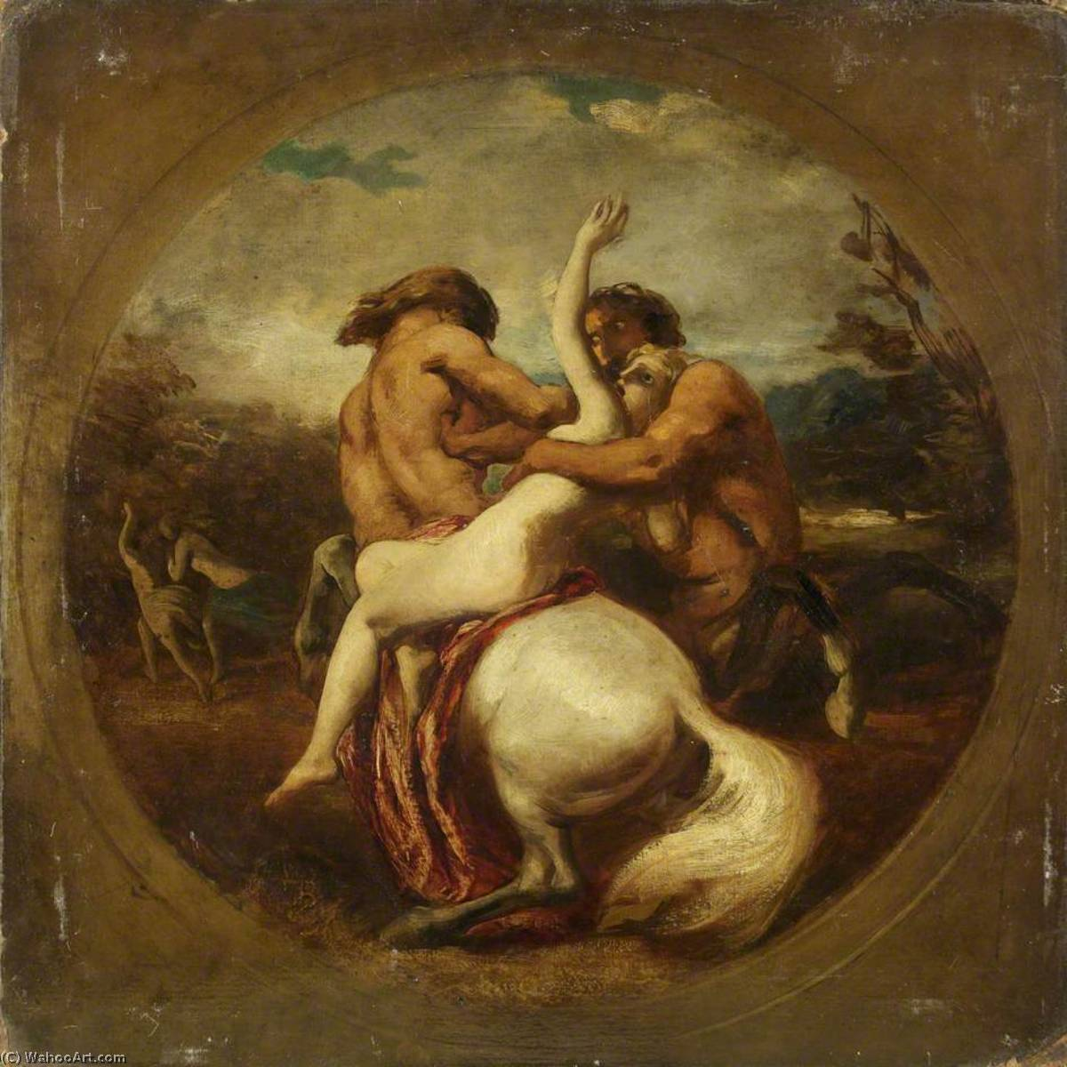 Centaures et nymphes ( recto ) de William Etty (1787-1849, United Kingdom) | Reproductions D'art Sur Toile | WahooArt.com