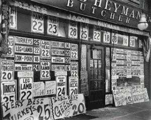 Berenice Abbott - jacob heymann boucherie , new york ville