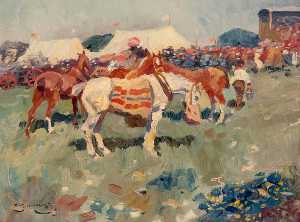 Alfred James Munnings - Bungay Courses , Suffolk