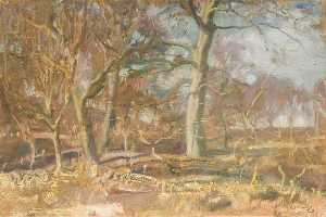 Alfred James Munnings - Étude pour 'Edge de l Wood'