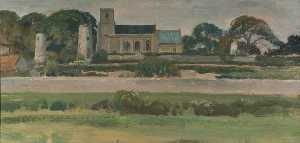 Alfred James Munnings - Stiffkey Église , Norfolk