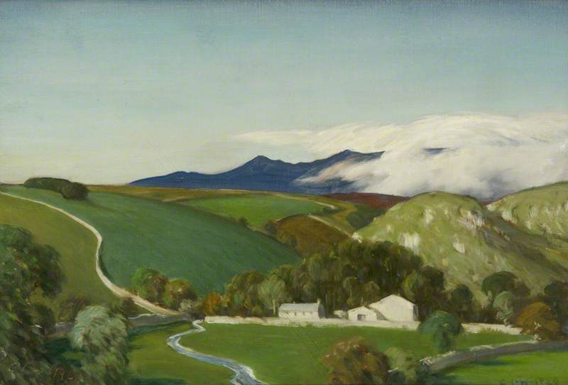 clarification des brumes , Ribblesdale, 1929 de Charles John Holmes | Reproductions D'œuvres D'art Charles John Holmes | WahooArt.com